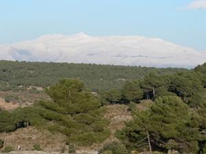 Pico Lopera - view of Sierra Nevada